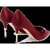 MALONE SOULIERS Paulette velvet-trimmed - Zapatos clásicos -