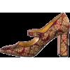 MANOLO BLAHNIK brocade mary jane pump - Zapatos clásicos -