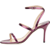 MANOLO BLAHNIK metallic heel sandal - Sandale -