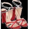 MARC ELLIS Marc Ellis Red Silver Leather - Sandals - $171.31  ~ £130.20