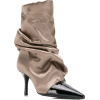 MARC ELLIS ruched pointed boots - Stiefel - $226.00  ~ 194.11€