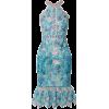MARCHESA NOTTE Ruffled embroidered guipu - Dresses - $695.00