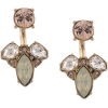 MARCHESA NOTTE crystal pendant earrings - Earrings -