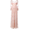 MARCHESA NOTTE floral embroidered long d - Dresses -