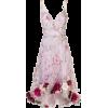MARCHESA pink floral embroidered dress - Dresses -