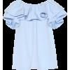 MARC JACOBS Ruffled cotton poplin top - Košulje - kratke -