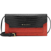 MARNI Croc-effect leather shoulder bag - Messaggero borse -