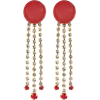 MARNI Crystal-embellished clip-on earrin - Aretes -