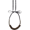 MARNI Gold-tone, crystal and satin neckl - Necklaces -