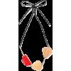 MARNI Gold-tone, wood and leather neckla - Collane -