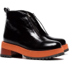 MARNI black 65 zip leather ankle boots 7 - Buty wysokie -