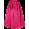 MARQUES' ALMEIDA Silk-dupioni midi skirt - Skirts -