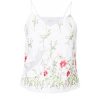 MARQUES'ALMEIDA floral embroidered slip  - Tanks -