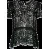MARTHA MEDEIROS LACE BLOUSE - T-shirts -