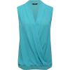 M&Co Turquoise Wrap Front Blouse - Shirts -