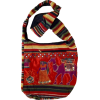 MG Decor Madhu's Collection Gypsy Recycled Patchwork Sling Cross Body Camel Bag/Purse - Bag - $17.99