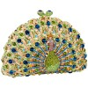 MG Collection Signature Peacock Crystals Half Moon Hard Case Clutch Evening Bag - Hand bag - $299.99