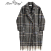 MIAOQING grey plaid coat - Jaquetas e casacos -