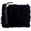 MICKEY BLACK SHAGGY CLUTCH - Torby z klamrą -