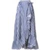 MILLA MILLA striped ruffle hem wrap skir - Gonne -