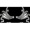 MINDI MOND diamond wing earrings - Brincos -
