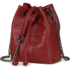 MINI SOFT GENUINE LEATHER BUCKET BAG - Hand bag - $76.97