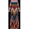 MISSONI  Zigzag metallic-knit dress - Dresses -