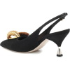 MIU MIU Embellished cotton slingback pum - Classic shoes & Pumps -