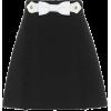 MIU MIU Embellished crêpe skirt - Skirts -