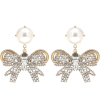 MIU MIU Faux pearl and crystal earrings - Aretes -