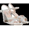 MIU MIU Glitter sandals - Sandals - 645.00€  ~ $750.97