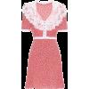 MIU MIU Lace-trimmed floral silk dress - Dresses -