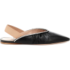 MIU MIU Leather slingback ballet flats - Flats -