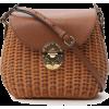MIU MIU  Miu Miu City Woven Shoulder Bag - Borsette -
