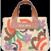 MIU MIU  Miu Miu Floral Embroidered Tote - Torebki -