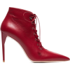 MIU MIU,Red 105 leather ankle boots - Stivali -