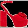 MIU MIU  Rose-appliqué suede platform sa - Classic shoes & Pumps -