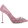 MIU MIU Roze Glitter Swarovski 105 pumps - Classic shoes & Pumps -