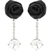 MIU MIU Silk and crystal clip-on earring - Kolczyki -