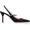 MIU MIU black embellished escarpin - Klasični čevlji -