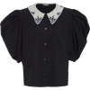 MIU MIU black embroidered collar blouse - Camicie (corte) -