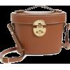 MIU MIU brown leather bag - Borsette -