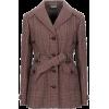 MIU MIU brown red belted jacket - 外套 -