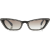 MIU MIU cate eye crystal embellished - Óculos de sol -