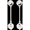 MIU MIU crystal and pearl drop earrings - Orecchine -