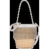 MIU MIU crystal-embellished straw bucket - Torebki -