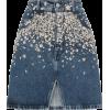 MIU MIU denim embellished skirt - Skirts -