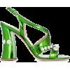 MIU MIU embellished block heel sandals - Sandals -