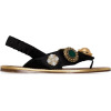 MIU MIU embellished satin sandals - Sandali -