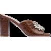 MIU MIU embossed croc mules - Sandals -